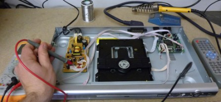 Repairing a DVD Player